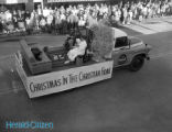"""""Christmas in the Christian Home"""" Float on Broad Street For the Christmas..."